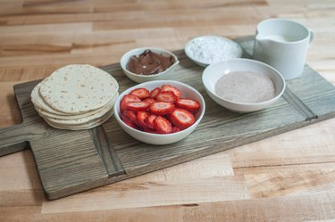 Strawberries and Cream Dessert Tacos Recipe