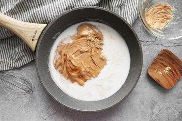 Combine peanut sauce ingredients