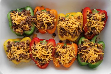 Stuff bell peppers with taco filling