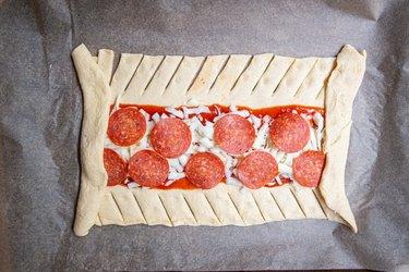 Crescent Roll Pizza Mummy Recipe