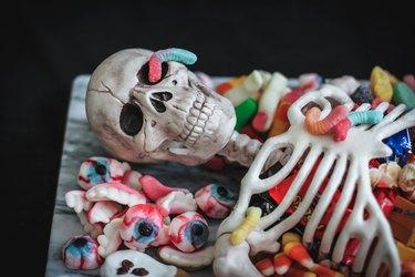 Creepy candy garnish