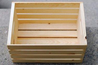 Plain wooden crate