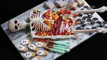 Larger treats added around edges of platter