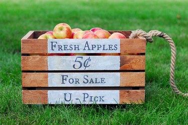 Wooden apple crate
