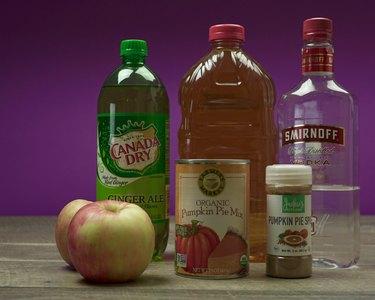 Ingredients for Pumpkin Pie Punch Recipe