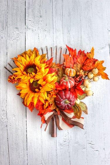 fall rake wreath