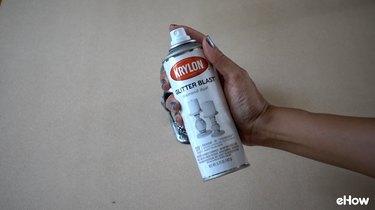Glitter Spray Paint for DIY Gemstone Studded Halloween Skull