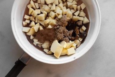 Combine the ingredients in a medium saucepan.