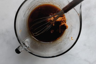 Add in the pumpkin pie filling or pumpkin puree.