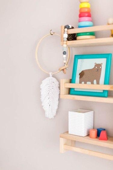DIY Macrame Feathers Wall Hanging Decor