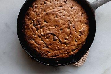 Bake until risen, fragrant, and golden brown.