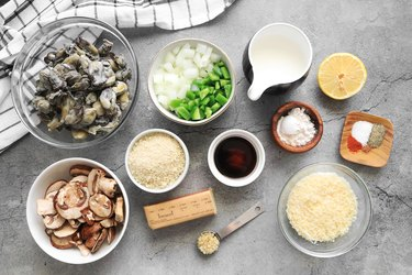 Ingredients for Southern oyster casserole
