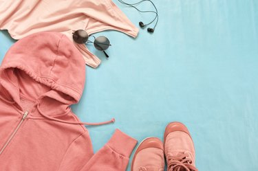 Pink woman clothes and accessories