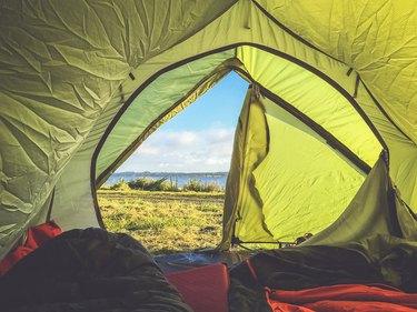 Field Seen Through Tent