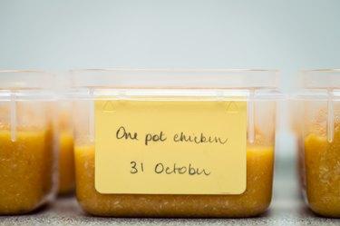 Home-made pureed food