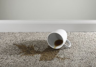 Coffee cup Spilled on carpet