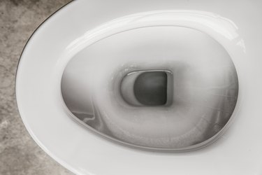 Directly Above Shot Of Toilet Bowl