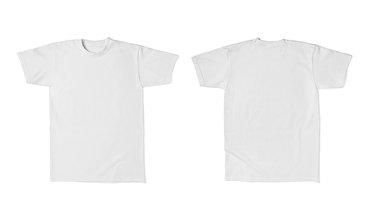 white t shirt template cotton fashion