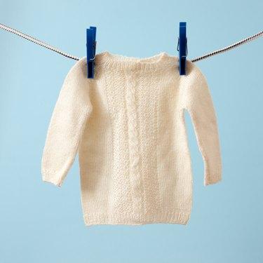 Hanging baby sweater