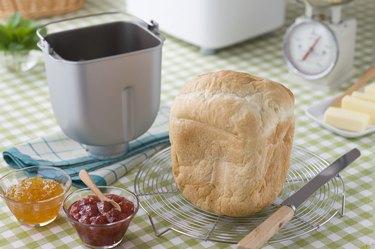 Bread on Cake Cooler