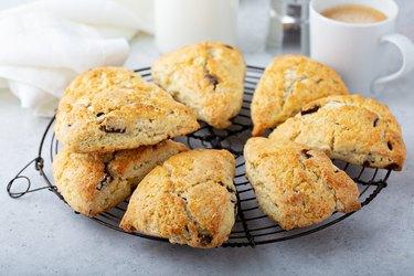Homemade chocolate chip scones