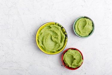 Green guacamole sauce
