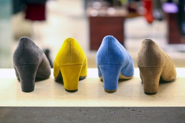 Female suede shoes color variations