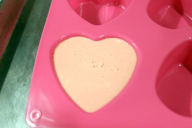 soap in heart-shaped mold