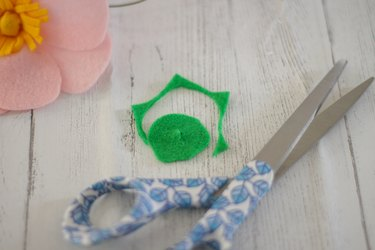 cut out a small piece of green felt