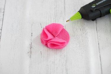 attach third felt petal