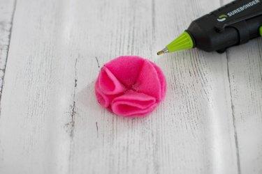 attach fourth felt petal