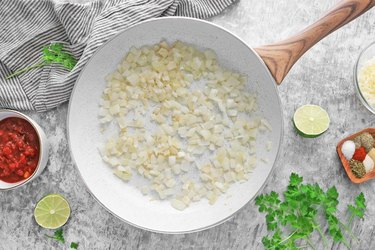 Cook onions and garlic