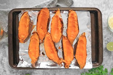 Scoop out some of the sweet potato