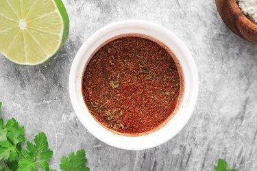 Mix taco seasoning ingredients