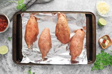 Bake sweet potatoes