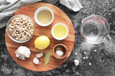 Ingredients for Instant Pot hummus