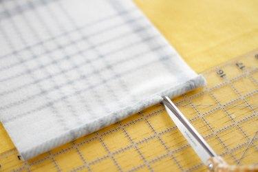 fold and snip the fleece