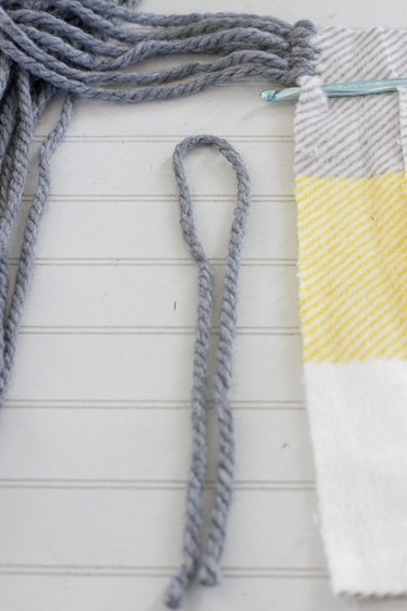 fold yarn in half