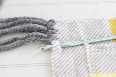 thread crochet hook through hole