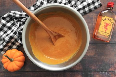 Mix pumpkin pie filling ingredients