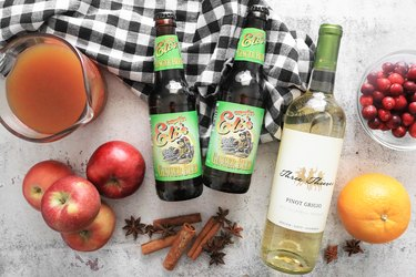 Ingredients for apple cider sangria