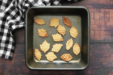 Bake pie dough cutouts