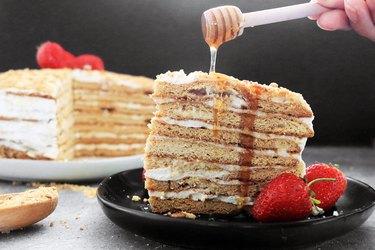 Russian honey cake
