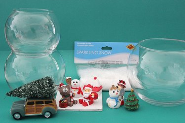 materials needed for diy fishbowl snowman