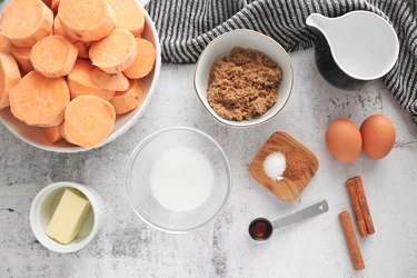 Ingredients for Instant Pot sweet potato filling
