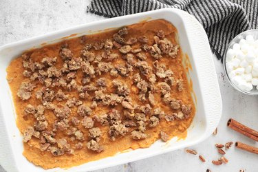 Bake sweet potato filling
