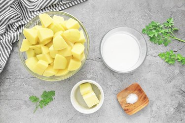Ingredients for mashed potato topping