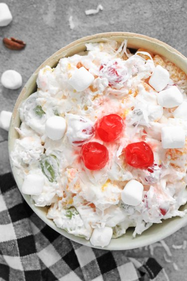 Chill ambrosia salad before serving