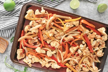 Transfer the vegetables to a large baking sheet