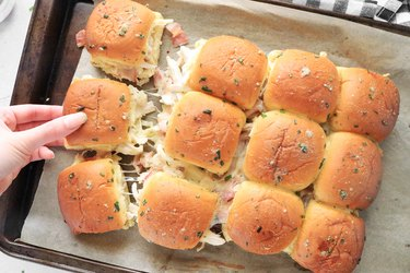 Bake the sliders